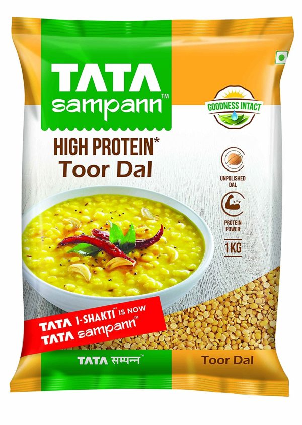 Tata sampann brings to you the yellow colour coated, nutrient filled dal. Tur dal or Pigeon Pea.It is a widely use pulse the cooking of Indian dishes.