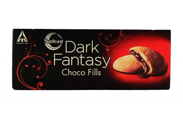 Sunfeast Dark Fantasy Choco Fills is an exquisite combination of luscious chocolate filling enrobed within a perfectly baked rich cookie outer.