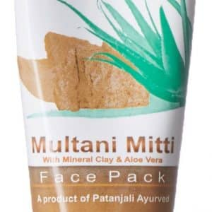 Patanjali Aloevera  Multani Mitti Face Pack is a unique blend of minerals and clay for youthful glowing skin. Fuller earth removes deep impurities.