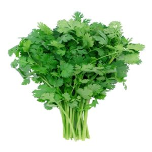 Coriander is used for garnishing dishes enhancing the taste of the food!