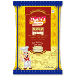 Cholias Gold Chakki Atta has high assured quality. It has years of expertise in wheat and wheat products. This pet pack of Gold Atta is premium.