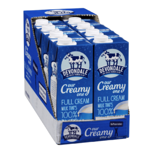 Devondale is nothing but Pure, Natural Full Cream Milk containing vitamin A and D, i.e., homogenized. No preservatives with a cut, open and drink packaging.
