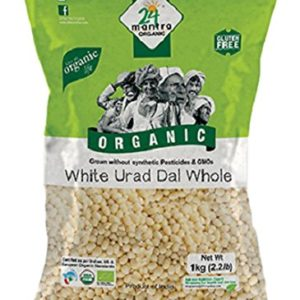 24 Mantra Organic Urad Dal White Whole 1KG