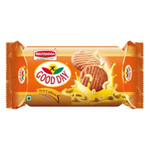 Britannia Good Day Cashewhas Cookies since become an all-time favorite indulgence.Buttery flavors interspersed with the delightful crunch of cashew nuts.