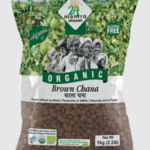 24 Mantra Organic Brown Chana Whole 1KG