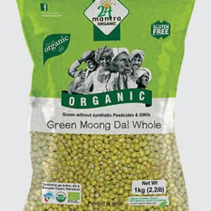 24 Mantra Organic Green Moong Whole 1KG