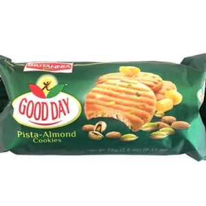 Britannia Good Day Pistachio Almond Cookies  is with the goodness of almonds, soft yet crunchy cashew, and delightful pistachios.